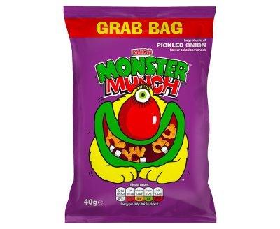 Mega Monster Munch Grab Bag Pickled Onion Flavour Baked Corn Snack (40g x 30)