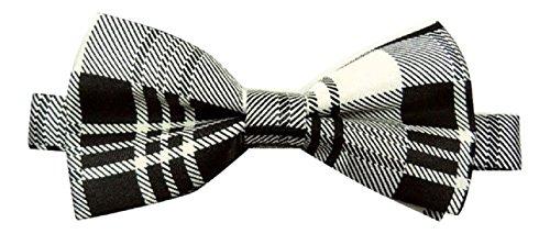 Sock snob homme mascherl mixte-papillon en satin de coton motif écossais rouge, vert, rose, noir, blanc