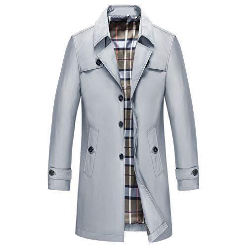 Goods-Store-uk Trenchcoat für Herren, Blazer-Design, Jacke, Trench-Jacke, Windbreaker, 9XL Gr. XL, grau