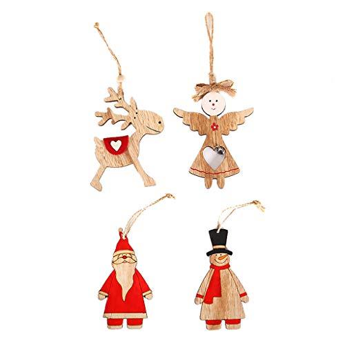 Hniunew Exquisite 4 StüCk Weihnachten Schlitten Weihnachtsdeko Schneetannen KüNstlicher Mini Weihnachtsbaum, Tischdeko,Fensterdeko, Schaufenster Weihnachtsschmuck Christbaumschmuck