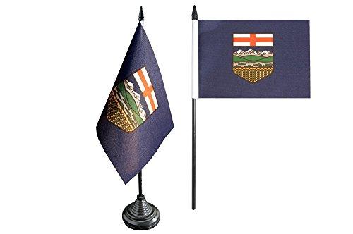 Flaggenfritze Tischflagge/Tischfahne Kanada Alberta + gratis Aufkleber