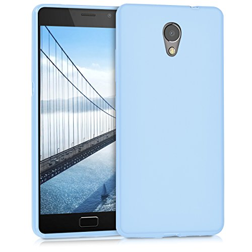 kwmobile Hülle kompatibel mit Lenovo P2 - Hülle Handyhülle - Handy Hülle in Hellblau matt