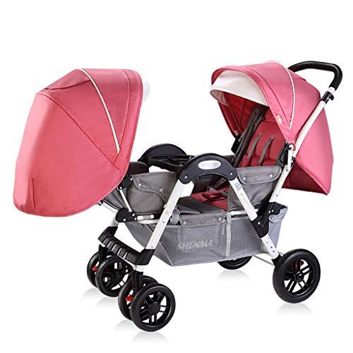 Cochecito Doble, Carro Cara A Cara para Bebé con Asiento para ...