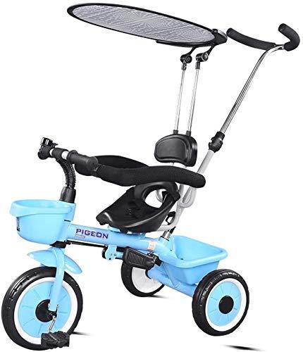 Portátiles ligeros cochecito de bebé 3 en 1 for niños triciclos, triciclo niños, de 3 ruedas de bicicletas for niños pequeños, las muchachas de los triciclos for niños pequeños triciclos bici del bebé