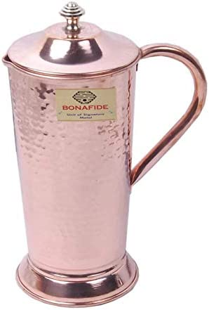BONA FIDE Heavy Gauge jug 100 Pure Solid Hammered Copper jug Moscow Mule Water Pitcher 65 Oz product image