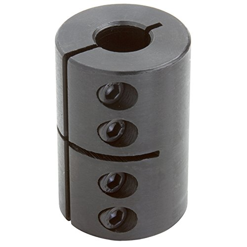 Climax Part CC-075-062 Mild Steel, Black Oxide Plating Clamping Coupling, 3/4 inch X 5/8 inch bore, 1 3/4 inch OD, 2 5/8 inch Length, 1/4-28 x 5/8 Set Screw