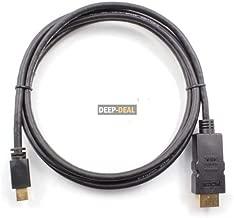 Mini Displayport Mini Dp to Hdmi Adapter Cable 3m 10 Feet Black, High Speed Converter Adapter Cable for Apple iMac, Mac Mini, Mac Pro, MacBook Air, MacBook Pro