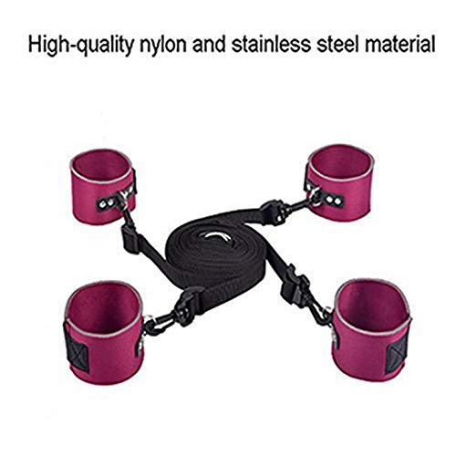 Bed Rêštráint Kit Set for Couples Women and Men Sê&x Play Adult Toys Soft Adjustable Hand Wrist Cuffs for Women CouplesFit Almost Any Size Beds Including King Or Queen Bed(Purple)