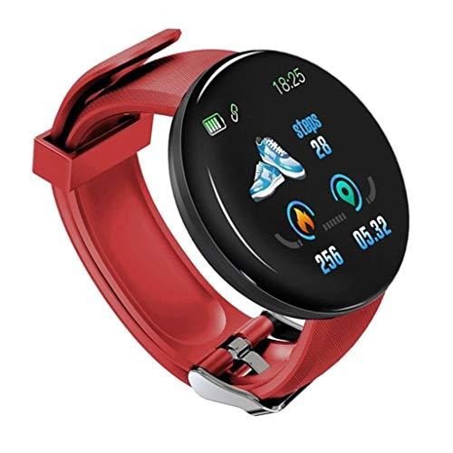 balikha Smart Watch Fitness Sport Tracker Pulsera Impermeable Bluetooth - Rojo