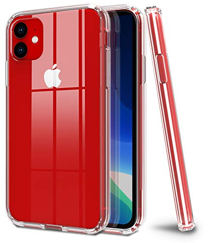 iPhone 11 Case, CLONG Compatible with iPhone 11 Case, Crystal Clear Anti-Scratch Shock Absorption Soft TPU/PC Bumper Protective Cover Case for 6.1inch Apple iPhone 11, HD Clear