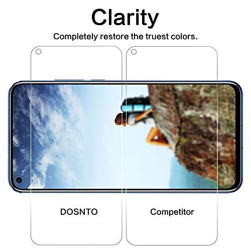 DOSNTO Panzerglas Schutzfolie für Huawei Honor View 20 2 Stück, 9H Härte, Anti-Kratzer, Anti-Öl, Anti-Bläschen, Anti-Fingerprint Displayschutzfolie Panzerglasfolie - 3