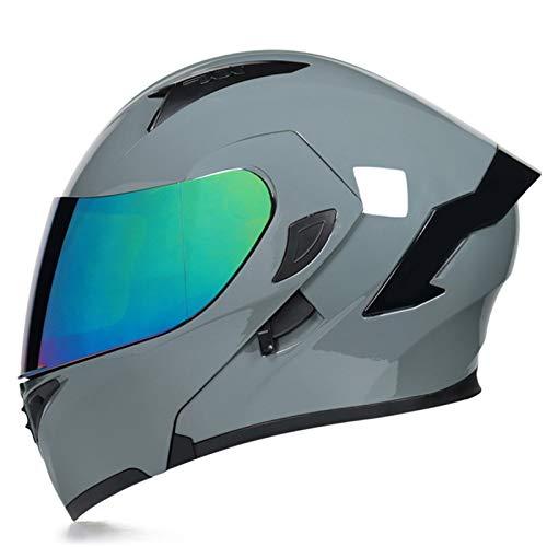 Modular Casco Moto Integral Modulares Casco Moto con Doble Visera Casco de Motocicleta ECE Homologado Cascos de motocross para Adultos Hombres Mujeres Cuatro Estaciones U,L