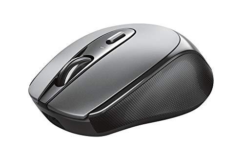 Trust Zaya Mouse wireless ricaricabile (Microricevitore USB riponibile ne mouse, 4 pulsanti, 800-1200-1600 dpi, Porta USB-C per ricaricare la batteria) Nero