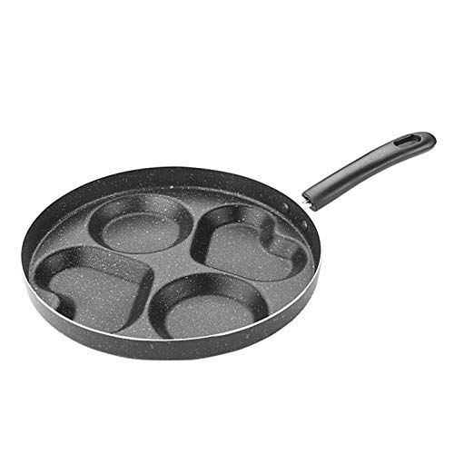 heresell Sartén para huevos Maifan, para tortillas, antiadherente, con 4 orificios, resistente al calor y a las escaldaduras, para desayunar, 28 cm