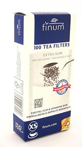 Finum - Filtros de papel para infusiones, tamano XS, 100 unidades