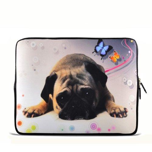 Dog Hundefigur Puggy Zoll Notebook 33,02 cm 33,78 cm Tragetasche für Apple Macbook pro 13 Air 13/Samsung 900X3 530 535U3/Dell XPS 13 Vostro 3360 inspiron 13/ASUS UX32 UX31 U36 X35/Sony SD4 13/ACER 13/ThinkPad X1 L330 E330