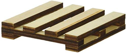 "Momenta 25094 Art-C Mini Slatted Wood Pallet, 3"" x 3"", Beige"