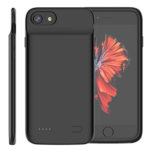 Funda Batería iPhone SE 2020, Ylinova 3200mAh Batería Externa Recargable Ultra Delgada Protector portátil Carga caso de prueba de choque para iPhone SE 2020 (Negro)