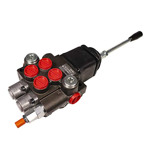 CHIEF G Series P40 Directional Control Valve with Joystick: 2 Spool, 3-pos. Spring center, 10 GPM, 3625 PSI With SAE #8 Work and SAE #10 Inlet/Outlet Ports, 1500-3625 PSI Relief, 220910