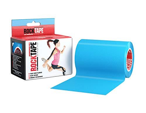 Rocktape, 10cm x 5m, elektrisches Blau, Therapie-Tape für Muskel-Unterstützung, Kinesiologie-Tape zur Behandlung von Muskelkater und gemeinsamen Sportverletzungen, Biomechanische Wrap