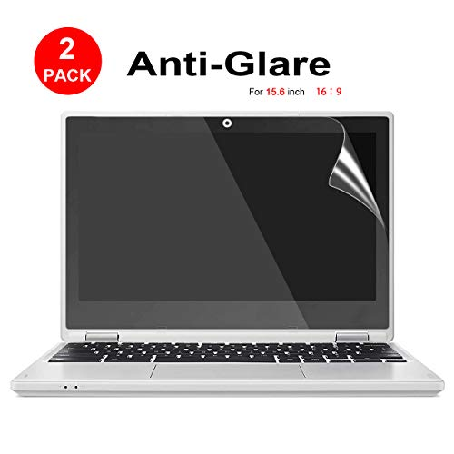 [2 Pack] 15.6-inch Laptop Crystal Clear Screen Protector, Notebook Computer Screen Guard Protector Compatible HP/Asus/Acer/Sony/Samsung/Lenovo/Toshiba etc, Display 16:9