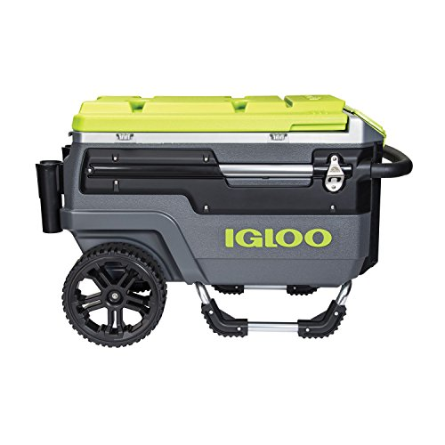 Igloo Trailmate Journey 70 Qt Cooler , Charcoal/Acid Green/Chrome