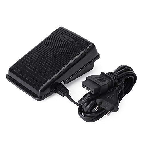 Akozon Pedal de Control de Pie Pedal Elctrico con Cable Pedal Eléctrico para Máquinas de Coser para Singer 7640/4423/ 5523/1409/ 4423 220-240V 0.5A