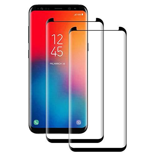 Aspiree Panzerglas Schutzfolie für Samsung Galaxy S9 Plus, [2 Stück] Galaxy S9 Plus Gehärtetes Glas Displayschutzfolie mit 9H Härte, HD Ultra Klar, Anti-Kratzen, Anti-Öl, Displayschutz Folie