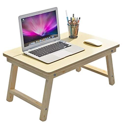 Xuping opvouwbaar bed laptop bureau, draagbare eenvoudige computer tafel slaapzaal studie tafel ontbijt lade voor bank multifunctionele massief hout kleine tafel outdoor campingtafel