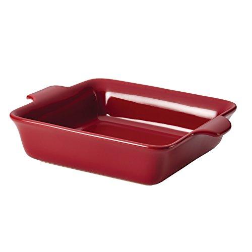 Anolon Vesta Ceramics 9-Inch Square Baker, Paprika Red