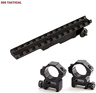 360 Tactical Optics Mounting Kit For Mauser 24/47 M48 K98 98 Rifles - Includes Scout Rifle Scope Mount Rail + Mount Rings