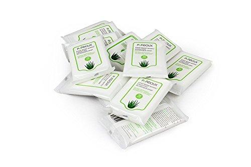 PÜRDOUX CPAP Maske Wipes, Aloe Vera (Box von insgesamt 120 Feuchttüchern in 12 wiederverschließbaren Beuteln, 10 Wischtücher pro Beutel)