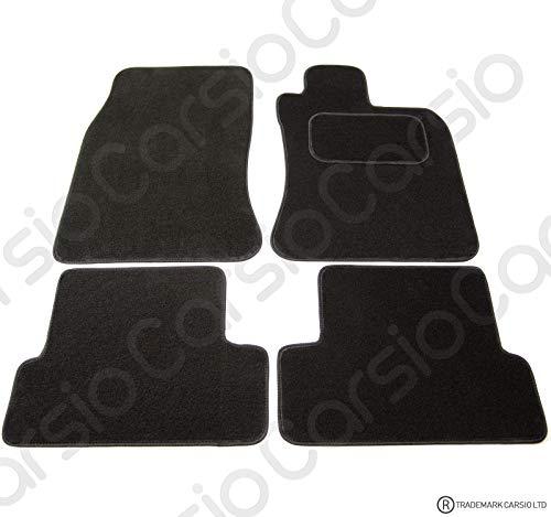 Carsio CARP-CUT-1182-(2 x Velcro) Alfombrillas de Coche a Medida para BMW Mini Cooper 2001-2006 – Juego de 4 Piezas