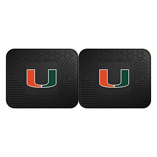 FANMATS 12287 University of Miami Utility Mat - 2 Piece,Team Color,14x17