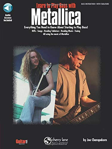 Metallica Learn To Play Bass With Book/CD (Book, CD): Noten, CD für Bass-Gitarre