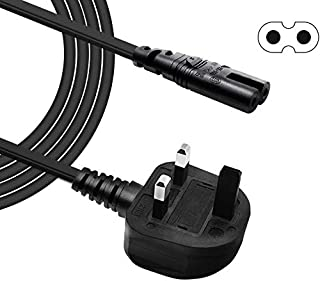 BENSN 2 Pin Mains Power Lead Figure 8 IEC C7 Cable for Samsung LG Sony Sharp LED TV, PS4 PS3 and HP ENVY/OfficeJet, Canon ...