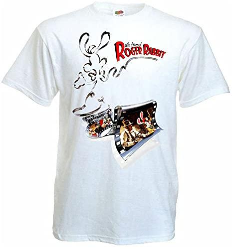 SHAOKAO Who Framed Roger Rabbit 1 Movie Poster T Shirt White