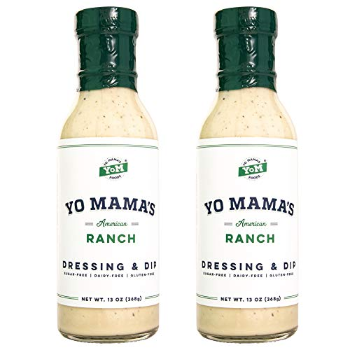 keto salad dressings Keto Ranch Salad Dressing and Dip by Yo Mama's Foods - (2) Bottles - Low Carb, Gluten Free, and Dairy Free!