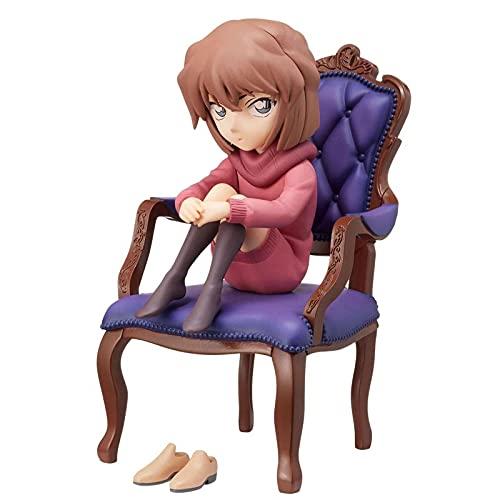 LUPOVIN 12Cm Anime Detective Conan Figure Haibara Ai Chair Ver Toys, Cartoni Animati Action Figures Model Collection Bambole Regali di Pasqua per Bambini