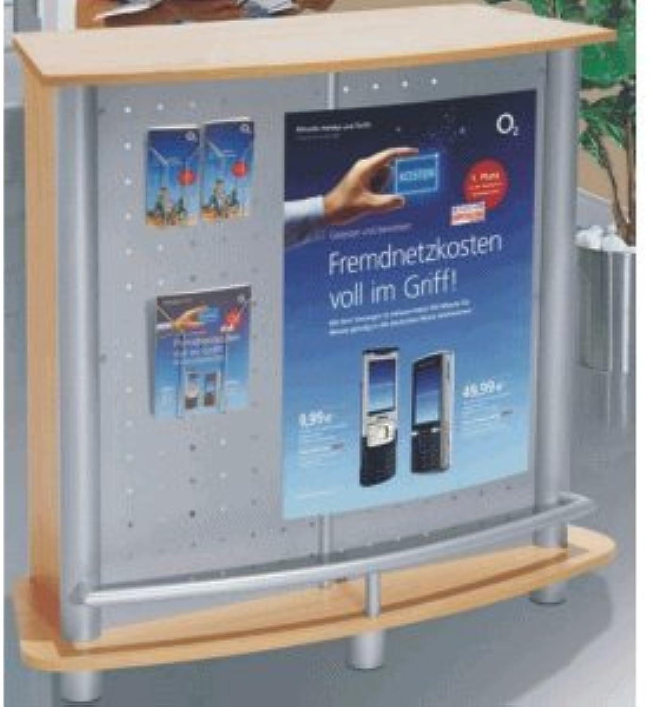 Kerkmann Counter Expo BxTxH 124x48x110cm alusilber Buchedekor B005EPLDOS      Deutsche Outlets
