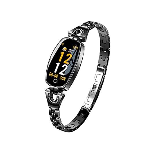 Presión inteligente venda de reloj del reloj del perseguidor H8 pulsera inteligente inteligente a prueba de agua Reloj del ritmo cardíaco de sangre rastreador de ejercicios para las mujeres Negro