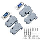 cococity 10 Coppie Adattatore DB9 RS232 D-SUB, 9 Pin Adattatore Maschio/Femmina a Saldare con Conchiglia per Connettore Terminale