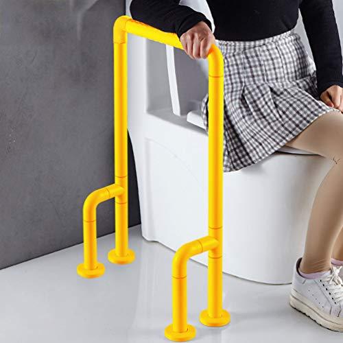 JMUNG Aufstehhilfe Toilette Nichtrostender Edelstahl-Griff Elderly Badezimmer Schlupfgriffe Toilettengriffe Toilette Toilette Griff Geländer Handtuchwärmer,Gelb