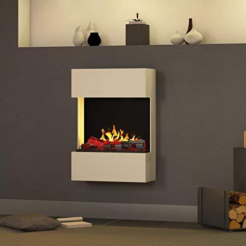 Muenkel design Bergamo Trix [Elektrische haard Opti-myst]: zuiver wit (warm) - 820 - met verwarming