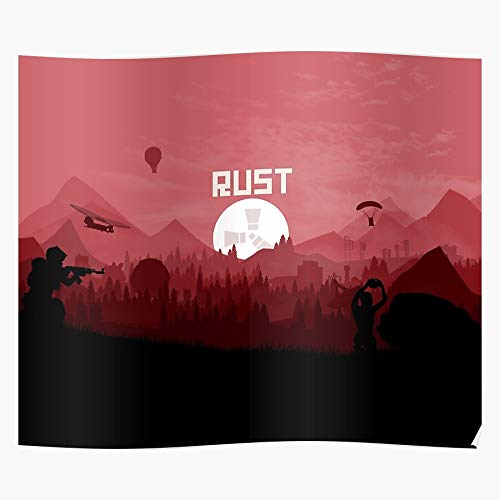 Craft Videogame Mine Game Rust Survival Helicopter Virtual Home Decor Wall Art Print Poster ! Home Decor Wandkunst drucken Poster !