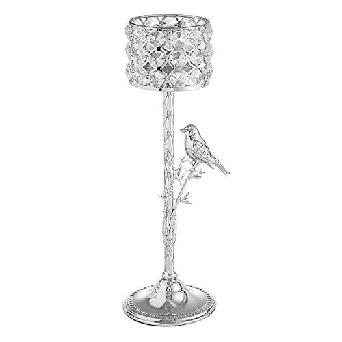 N/A/a Candelabros de Cristal de Plata para centros de Mesa de Boda, Chimenea, candelabros Decorativos - 31,5 cm