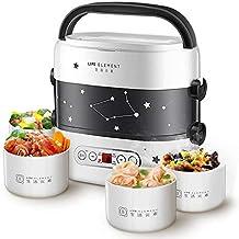 Elyqddd Smart Lunchbox, elektrisch, klein, rijst, Cooker, dubbellaags, automatische verwarming, keramische coating, Smart ...