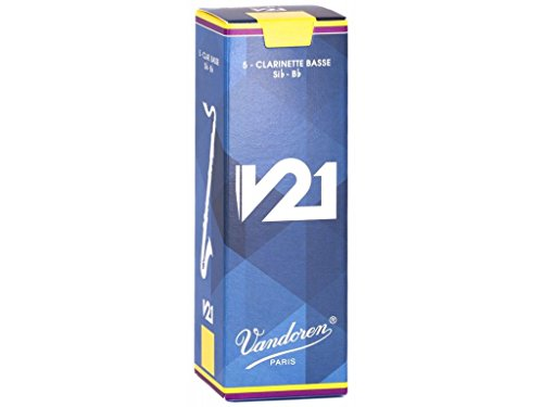 Vandoren CR8225 Bass Clarinet V21 Reeds Strength 2.5, Box of 5