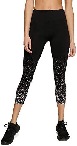 Kyodan Womens Burst Capri 3 4 Yoga Leggings Black product image