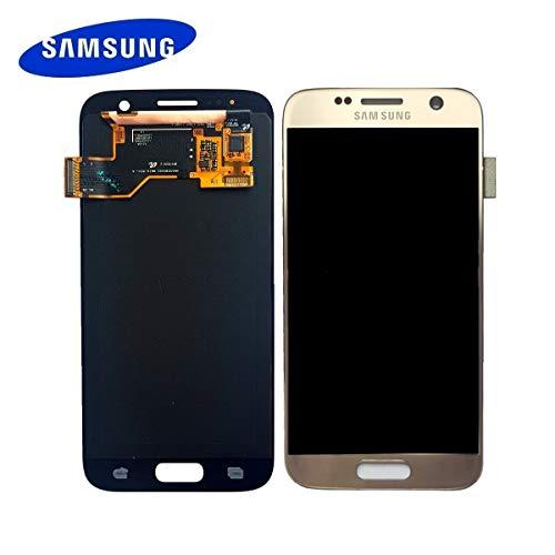 Original Samsung Galaxy S7 SM G930F LCD AMOLED Display Touchscreen Digitizer Gold Service Ersatzteil GH97-18523C